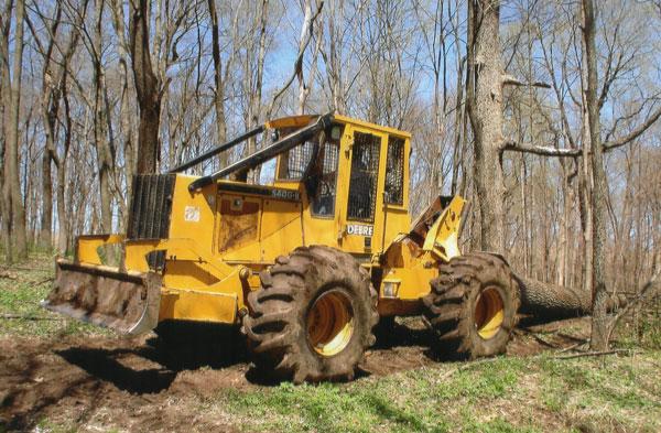 Olson Logging John Deere Skidder