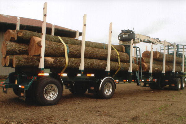Olson Logging Truck with Walnut Logs